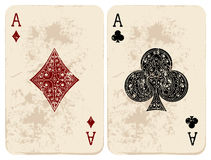 Ace van Diamanten & Clubs Stock Foto's