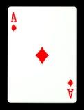 Ace van diamantenspeelkaart, Royalty-vrije Stock Afbeeldingen