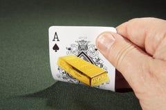 Ace van spades Stock Afbeelding