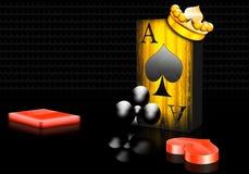 Ace van spades Royalty-vrije Stock Foto's