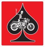 Ace van Spades met het ontwerp van de Skeletfietser Royalty-vrije Stock Foto