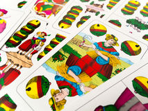 Ace von deutschen Spielkarten der Klingelglocken Stockbilder