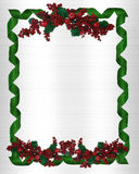 Acebo de la frontera de la Navidad Imagen de archivo