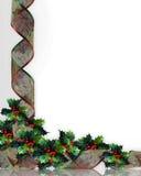 Acebo y cintas de la Navidad Fotografía de archivo
