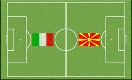 Acedonia contro l'Italia Fotografie Stock