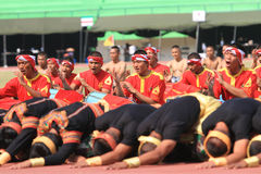 Aceh danser royaltyfri bild