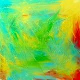 Aceite abstracto en lona Imagenes de archivo