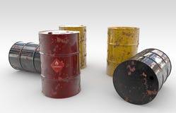 Aceite-barriles Imagenes de archivo
