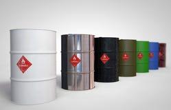 Aceite-barriles Foto de archivo libre de regalías