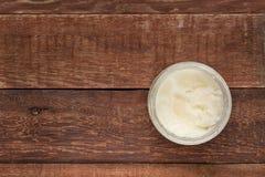 Aceite de cocina del coco Imagenes de archivo