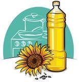 Aceite de cocina del girasol Imagen de archivo
