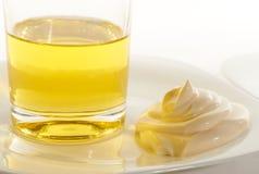 Aceite de ensalada de la mayonesa del huevo Imagenes de archivo