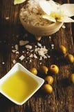 Aceite de oliva Imagen de archivo