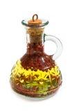 Aceite de oliva con spicery Imágenes de archivo libres de regalías