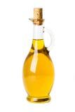 Aceite de oliva en botella Fotos de archivo