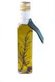 Aceite de oliva en una botella Fotos de archivo libres de regalías