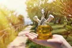 Aceite de oliva Sirmione, Italia foto de archivo libre de regalías
