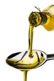 Aceite de oliva vertido Fotos de archivo