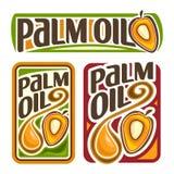 Aceite de palma del logotipo del vector Imagen de archivo libre de regalías