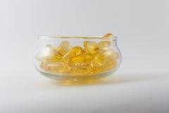 Aceite de pescado Foto de archivo libre de regalías