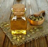 Aceite de semilla de calabaza Imagen de archivo