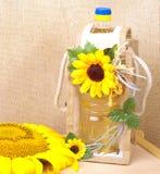 Aceite de semilla de girasol Imagenes de archivo