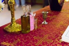 Aceite del bautismo imágenes de archivo libres de regalías