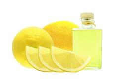 Aceite del limón Foto de archivo libre de regalías