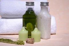 Aceite del masaje Foto de archivo libre de regalías