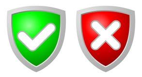 Aceite e negue os protetores da segurança Fotos de Stock
