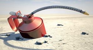 Aceite en el desierto ilustración del vector