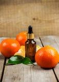 Aceite esencial de la mandarina orgánica Fotografía de archivo libre de regalías