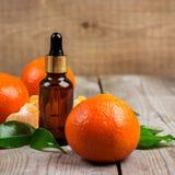 Aceite esencial de la mandarina orgánica Imagen de archivo