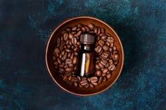 Aceite esencial del café imágenes de archivo libres de regalías
