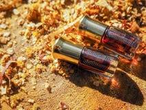 Aceite fragante Petróleo perfumado Pequeña botella de esencia árabe foto de archivo
