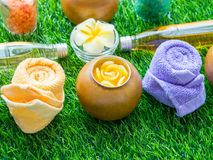 Aceite hecho a mano de Sugar Peach Scrub With Argan Jabón hecho a mano Himala foto de archivo libre de regalías