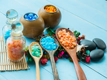 Aceite hecho a mano de Sugar Peach Scrub With Argan Jabón hecho a mano Himala imágenes de archivo libres de regalías