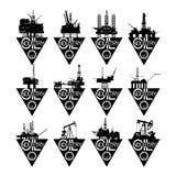 Aceite industry-1 de los iconos Imágenes de archivo libres de regalías