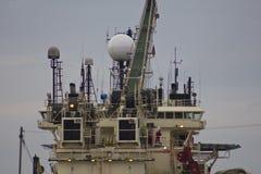 Aceite Rig Supply Ship de Mar del Norte Imagen de archivo libre de regalías
