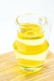 Aceite vegetal en tarro Foto de archivo