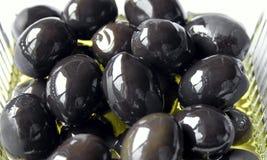 Aceitunas engrasadas con aceite de oliva Fotos de archivo