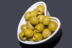 Aceitunas verdes Foto de archivo libre de regalías