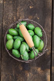 Aceitunas verdes frescas Imagen de archivo libre de regalías