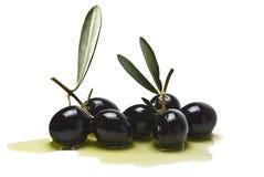 Aceitunas y aceite de oliva Fotografía de archivo libre de regalías