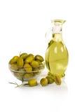 Aceitunas y petróleo Imagen de archivo libre de regalías