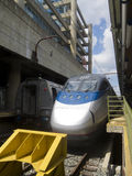 Acela train in Union Station, Washington DC Stock Photo