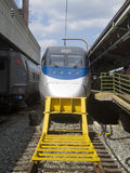 Acela train in Union Station, Washington DC Royalty Free Stock Images