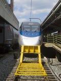 Acela train in Union Station, Washington DC. Acela train standing in Union Station, Washington DC, USA royalty free stock images