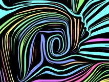 Aceleración de líneas internas ilustración del vector