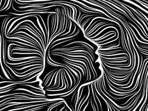 Aceleración de líneas internas stock de ilustración